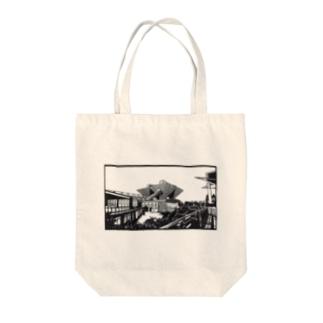 東京ビックサイト02 Tote bags