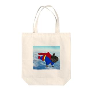 空飛ぶチョビーマン Tote bags