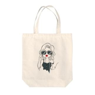 mi. @LINEスタンプ販売中!のsexy girl(クール) Tote bags