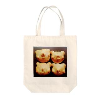 シェイモのシェイモくまちゃんパン Tote bags