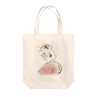 桃色少女 Tote bags