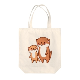 カワウソ親子 Tote bags