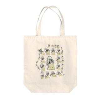 tarojiro(たろじろ)のふかふか背後霊に癒される Tote bags