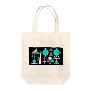 人生自転車操業(ネガ) Tote bags