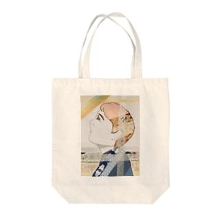 マステ絵哀愁ボーイ Tote bags