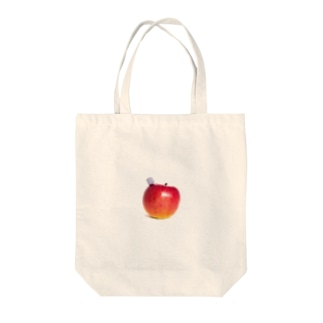 the apple Tote bags