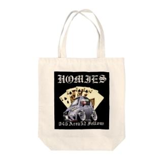 crazyhomiesのSHIN Tote bags