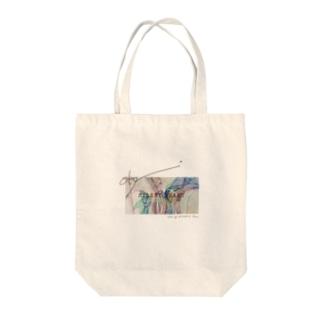 雨降り silent heart Tote bags