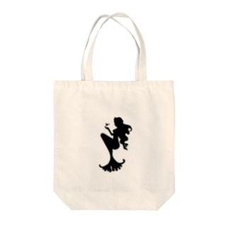 人魚のお散歩 Tote bags