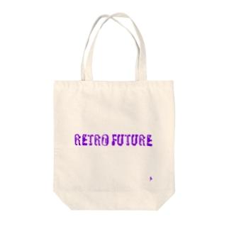 レトロフューチャーロゴ Tote bags