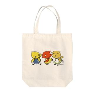 『仲良しカナリア』 Tote bags