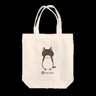 Moon Phaseのサバトラにゃんもげら Tote bags