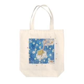 雲ねこちゃん~金平糖をあつめる~ Tote bags