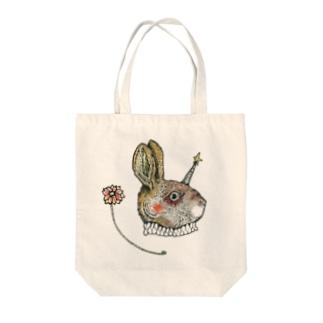 ツノ兎 Tote bags