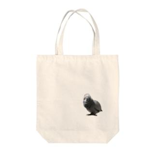 変顔のヨウム Tote bags