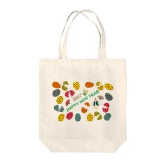 2017酉年のニワトリのイラストgoods Tote bags