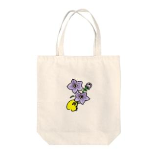 ききょうの花とぴよたそ Tote bags