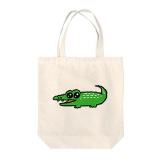 うるうる目のワニくん Tote bags