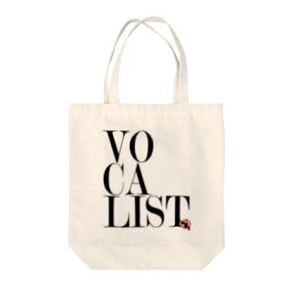 Vocalist Black Tote bags