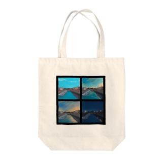 入江のグラデーション Tote bags