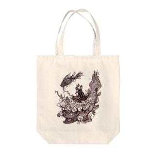 深海 Tote bags