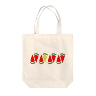 スイカ一列 Tote bags