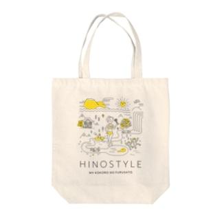HINO_STYLE(グラマラス婆ちゃん) Tote bags