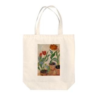 クロード・モネ / 1883 / Three Pots of Tulips / Claude Monet Tote bags