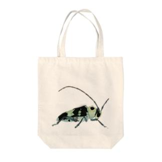 ラミーカミキリ Tote bags