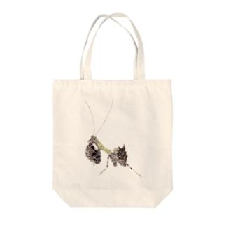カマキリの赤ちゃん Tote bags