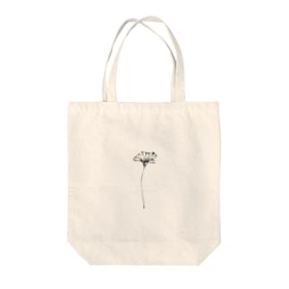 【 ドシンプルな一輪のヒナゲシ 】 Tote bags