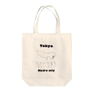 Tokyo Metro City Tote bags