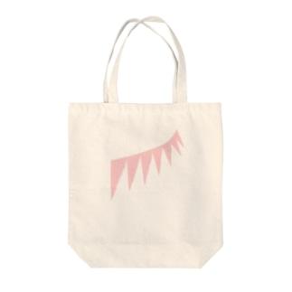ピンクフェザー Tote bags