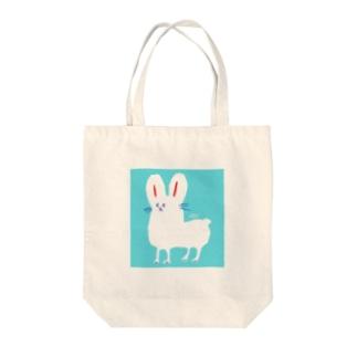 ホッキョクうさぎ Tote bags