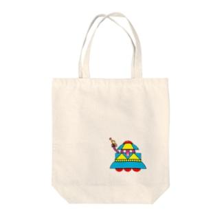 火星人マースくんUFO Tote bags