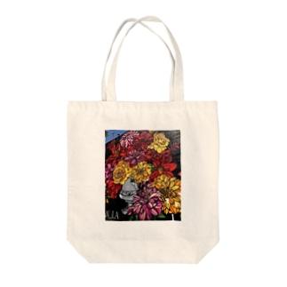 お花の壁 Tote bags
