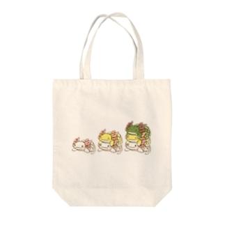 うぱるぱタワー Tote bags