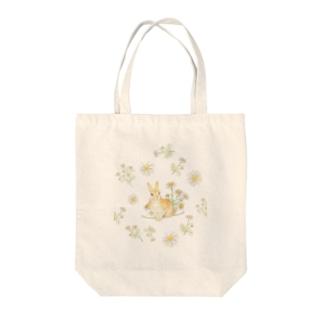 カモミールとうさぎ Tote bags