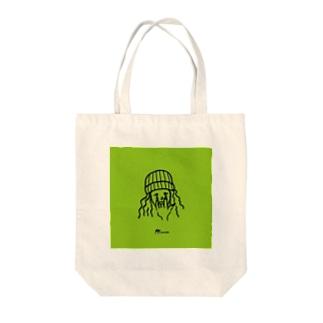 ニットガール Tote bags