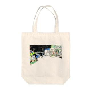屋上と東京 Tote bags