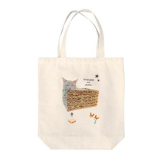 Bichiko's maxim 『食パンはおふとん』 Tote bags