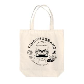 Fine Husband Tote bags