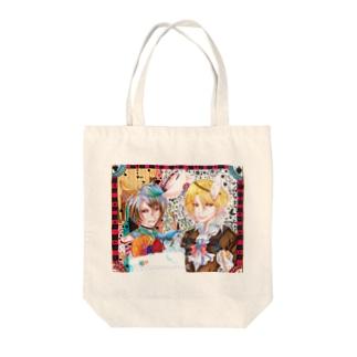 三月兎と時計兎 Tote bags