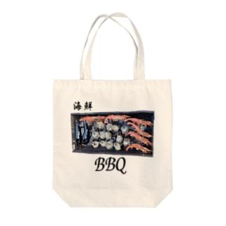 KUREOの海鮮BBQやるぞー! Tote bags