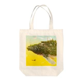 くじらの惑星 Tote bags