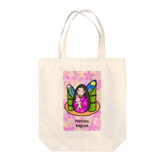 ネイルアート かぐや姫と月ウサギ Tote bags