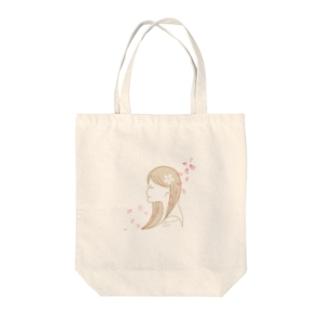 桜女子 Tote bags
