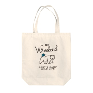 ROBY'S CAMP WEEKEND BEAR Tote bags