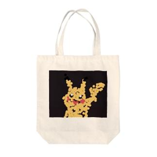 Toon-Hirokiの点描チュウ黒 Tote bags