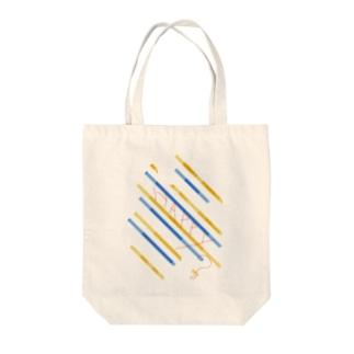斜ストライプ Tote bags